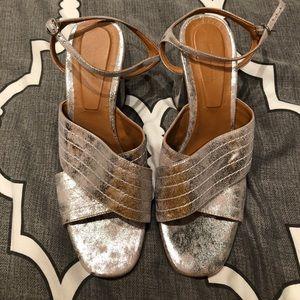 Zara metallic strappy sandal
